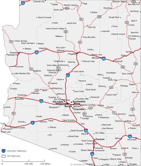 sedona arizona usa map map of arizona cities homeschooling