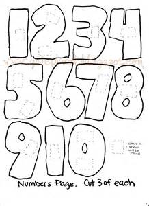 Number Template by Printable Numbers 1 10 Images