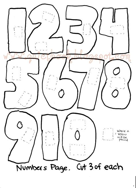 numbers templates how to make a book page 22 23 counting 1 10
