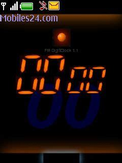 nokia 6300 themes clock animated digital clock flash free nokia 6300 theme download