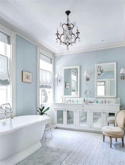 blue bathroom walls master bathroom blue walls chevron marble tile blue bath
