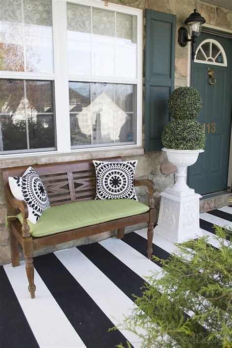 how to paint stripes on your front porch cuckoo4design