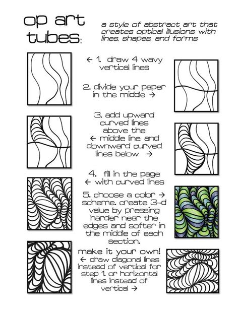 pattern in art lesson plan op art menlo park s art studio op art pinterest op