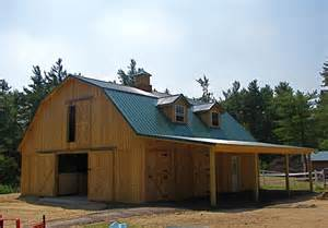 Gambrel Roof Barn Kits A Gambrel Barn Like This Without The Dormers