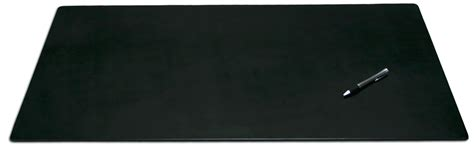large leather desk mat p1012 black leather 34in x 20in desk mat without rails