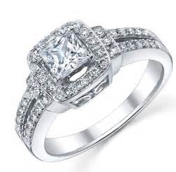 Rings gt multistone rings gt 1 carat princess diamond engagement ring in