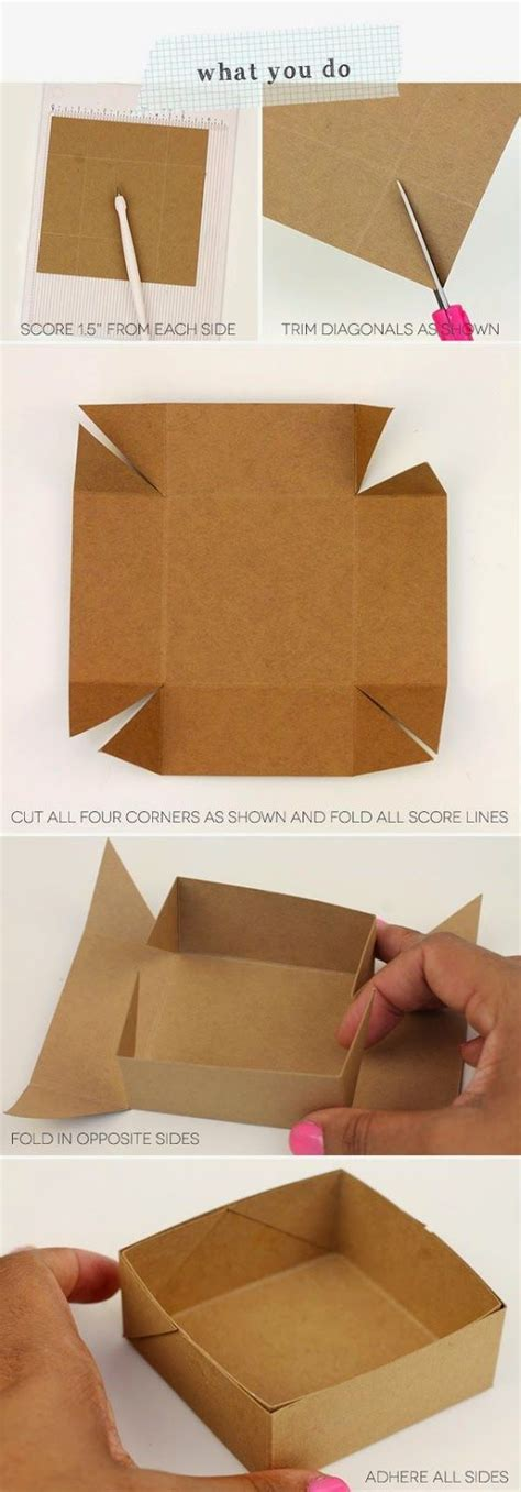 How To Make A Box With Chart Paper - las 25 mejores ideas sobre manualidades con bolsas de