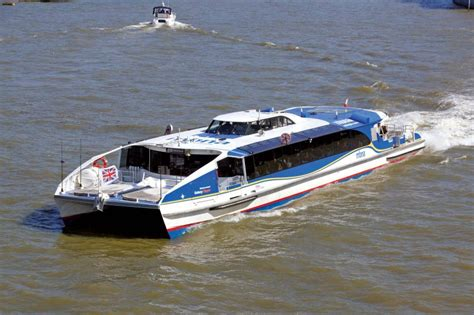 mbna thames clippers boosts services between putney and mbna thames clippers hunt class catamarans shipping
