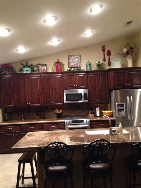 what to put above kitchen cabinets above kitchen cabinet decor house ideaaa pinterest