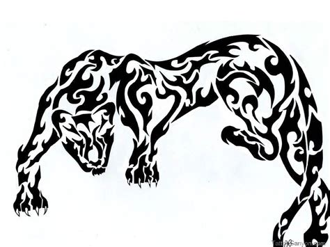tribal black panther tattoos tribal tattoos drawing at getdrawings free for