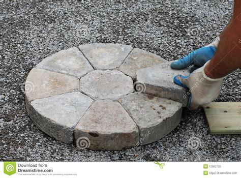 decorative brick laying laying decorative pavers royalty free stock photo image