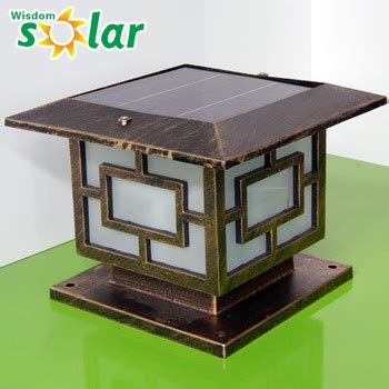 high quality solar pillar light led solar garden light