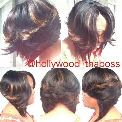 bob wigs with invisible part invisible part sew in bob weaved hair styles pinterest