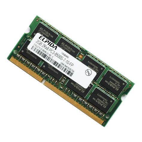 elpida 2gb ddr3 pc3 8500 1066mhz laptop memory ram