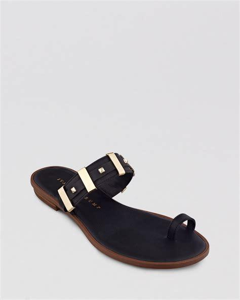 flat studded shoes ivanka flat sandals kelsees studded in black lyst