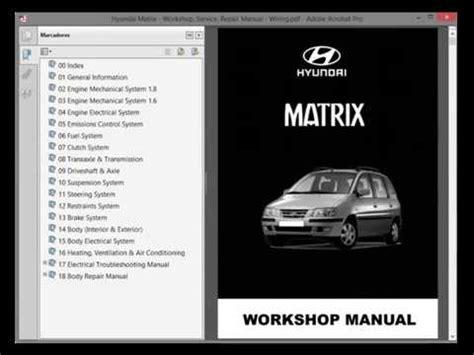 Hyundai Matrix Workshop Service Repair Manual Wiring