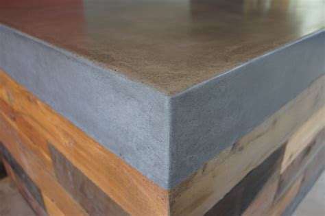 concrete bench top polished concrete benchtop with reclaimed timber cabinetry