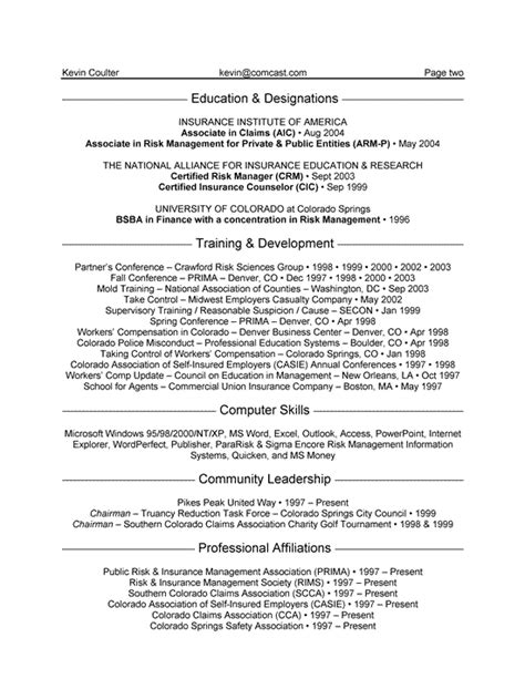 Resume Format For Banking And Insurance Banking Resume Templates