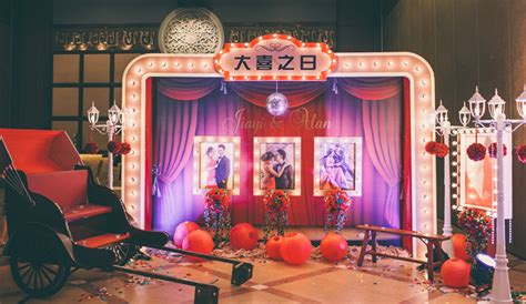 Shanghai themed wedding reception the wedding notebook magazine