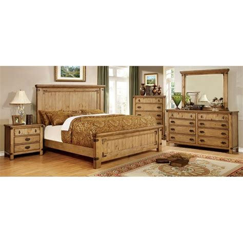 4 piece king bedroom set furniture of america sesco country 4 piece california king