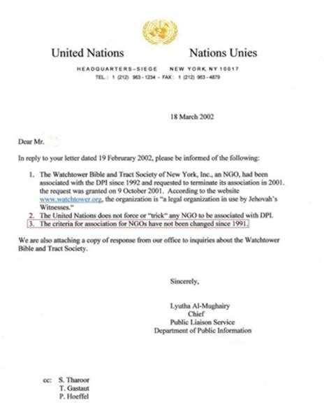 Support Letter For Ngo watchtower s united nations association page 3