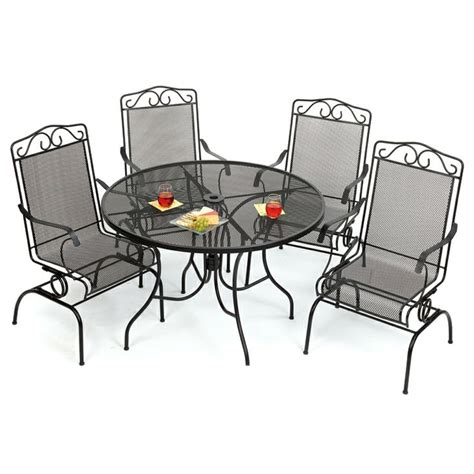 wrought iron patio furniture old time pottery