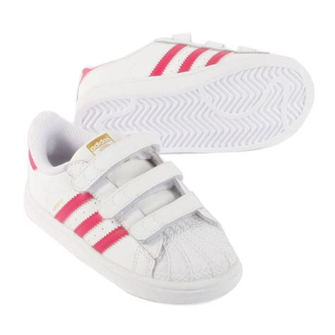 superstar foundation pink velcro trainers pink adidas shoes