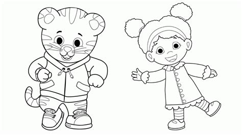 Daniel Tiger Coloring Page Coloring Home Daniel Tiger Coloring Page