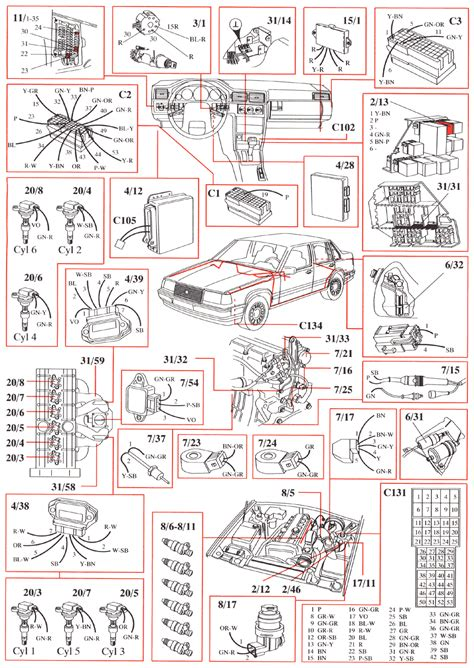 volvo 960 1993 wiring diagrams
