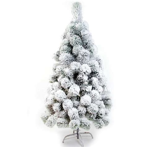 snow covered christmas trees 5ft 150cn artificial tree snow covered pine tips home decorations