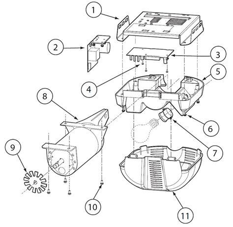 genie garage door opener parts diagram excelerator isd h8000 pro99 cmd9900 powerhead parts