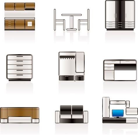 design icon furniture furniture icons vector free vector in encapsulated