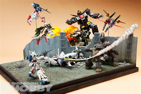 gundam diorama front poster gunpla version gundam kits collection news and reviews