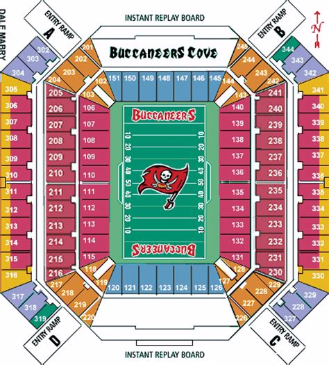 ta buccaneers stadium seating raymond stadium seating chart tabay bucs tickets