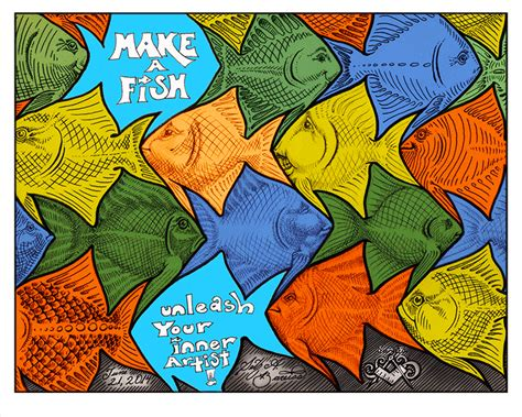 fish tessellation art by sethness for the make a fish