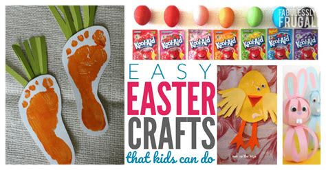 crafts can do easy easter crafts that can do fabulessly frugal