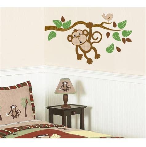 monkey wall stickers hanging monkey fabric wall decal monkey fabric wall sticker