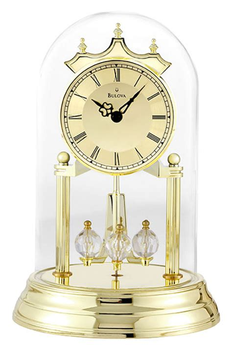 tristan  anniversary clock  bulova bulova mantel clocks