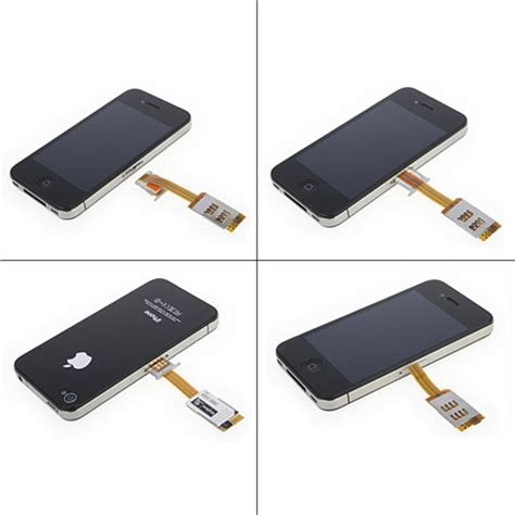 dual sim card adapter with back iphone 4s 4