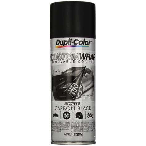 dupli color black dupli color 174 cwrc794 matte carbon black custom wrap 11 oz