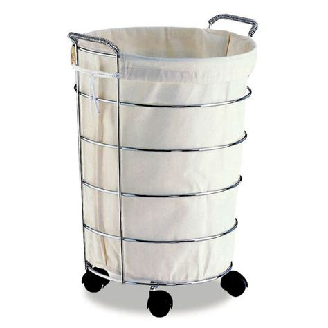 rolling laundry basket her rolling laundry basket w canvas bag from neu