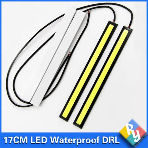 Led Drl 17cm Universal 2016 new 2pcs 17cm cob drl led daytime running light auto l external lights for universal car