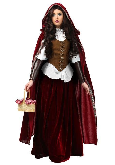halloween costumes deluxe red riding hood costume