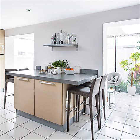 Kitchen Ideas Island kitchen diner with island unit and breakfast bar with four
