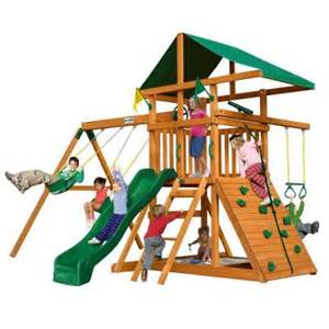 home depot playset installation gorilla playsets outing iii cedar playset