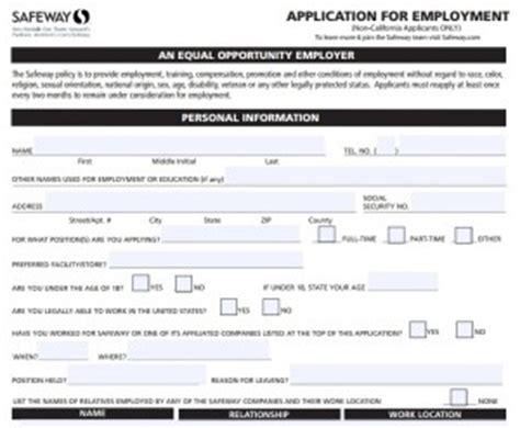 safeway application form safeway application forms fillable pdf