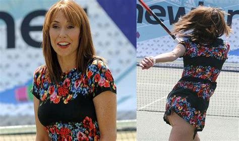 alex jones flashes bottom as she hits the tennis