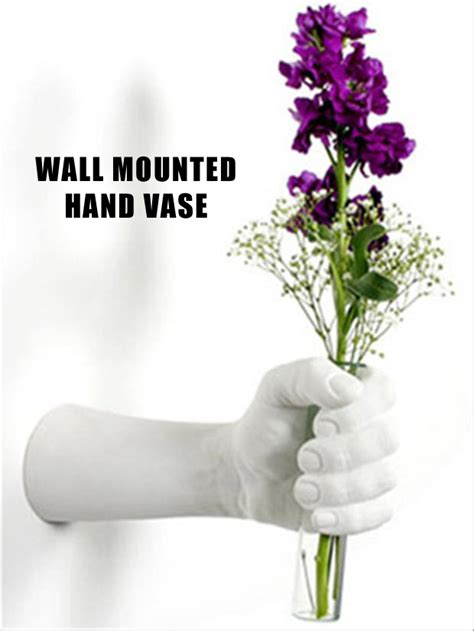 wall mounted hand vase dump a day