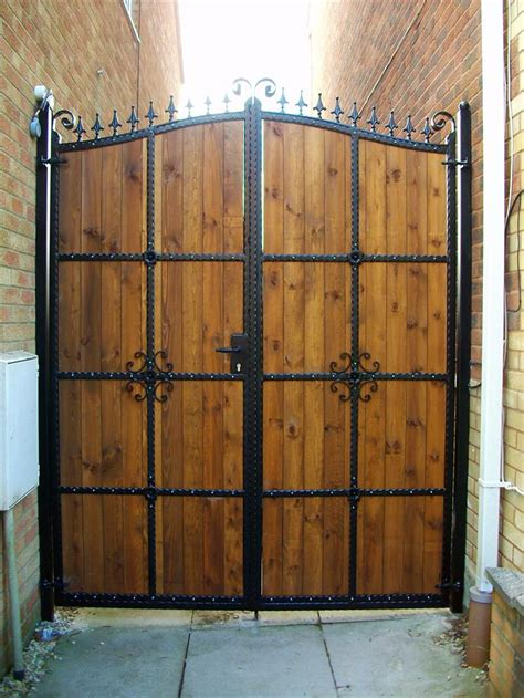 aber wrought iron steel frame wrought iron gate with wood caerphilly