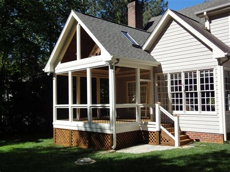 screen porch roof screened porch raleigh nc gable roof by wilmington deck